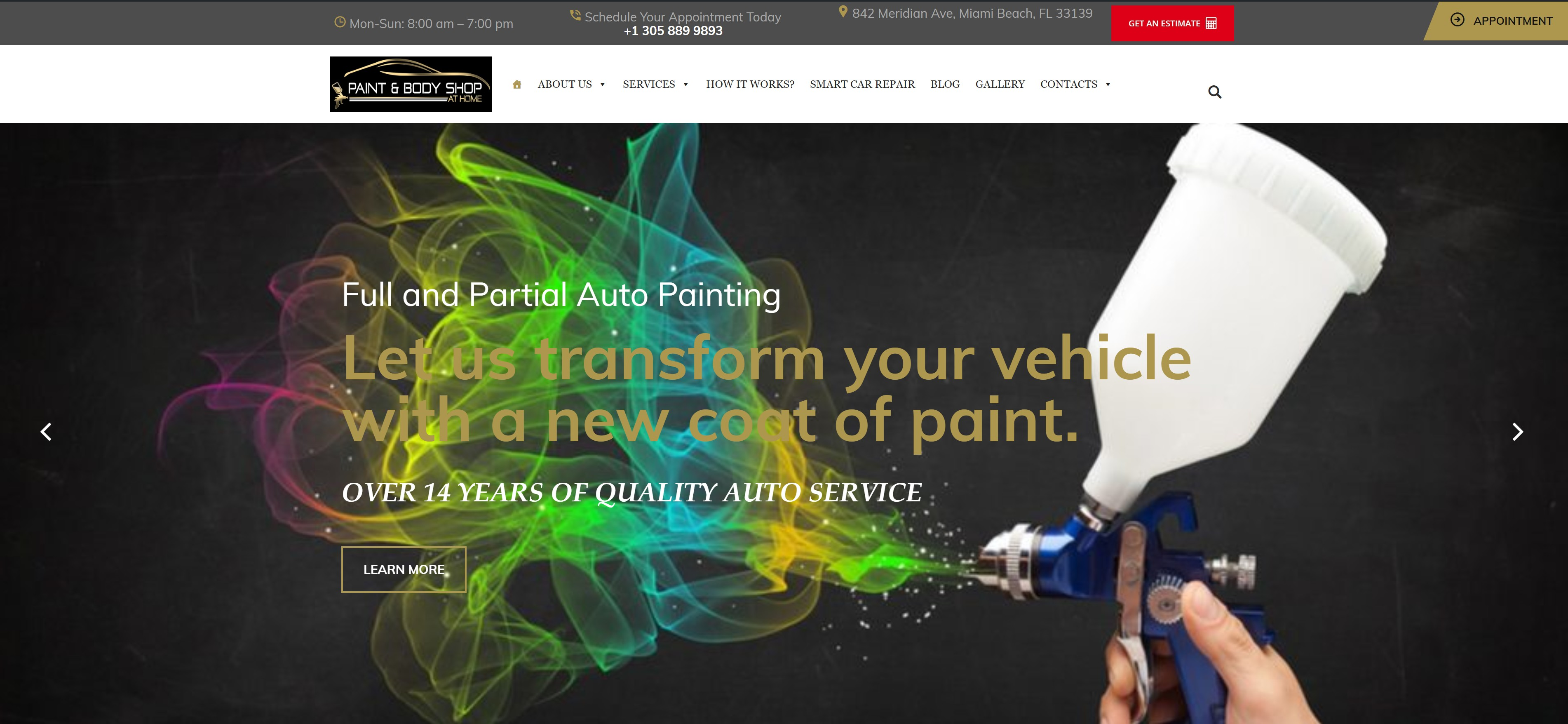 Paint & Body Shop at Home